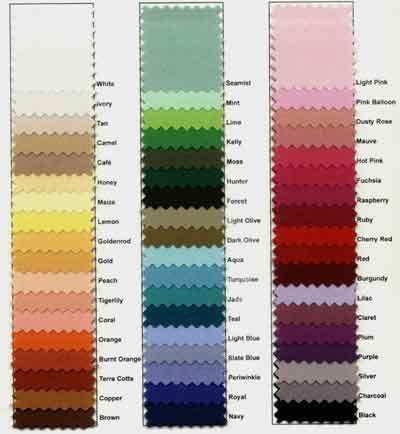 Linen Color Reference Chart