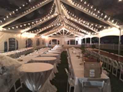 Bistro Lighting in Clear Top Tent