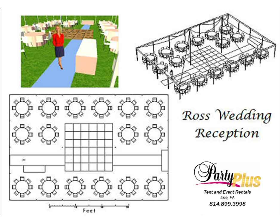 Party CAD Wedding Layout
